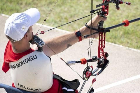 Tir à l'arc: Piotr Van Montagu en 8e de finale en compound