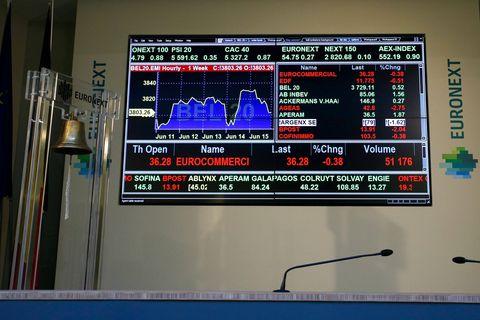 Les Bourses européennes terminent dans le vert, attentistes avant les minutes de la Fed