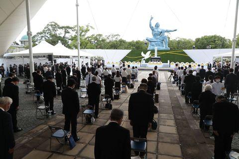 Nagasaki commémore sobrement le 76e anniversaire du bombardement nucléaire