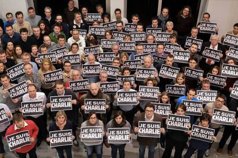 Les journalistes de La Libre et de la DH se mobilisent pour Charlie Hebdo