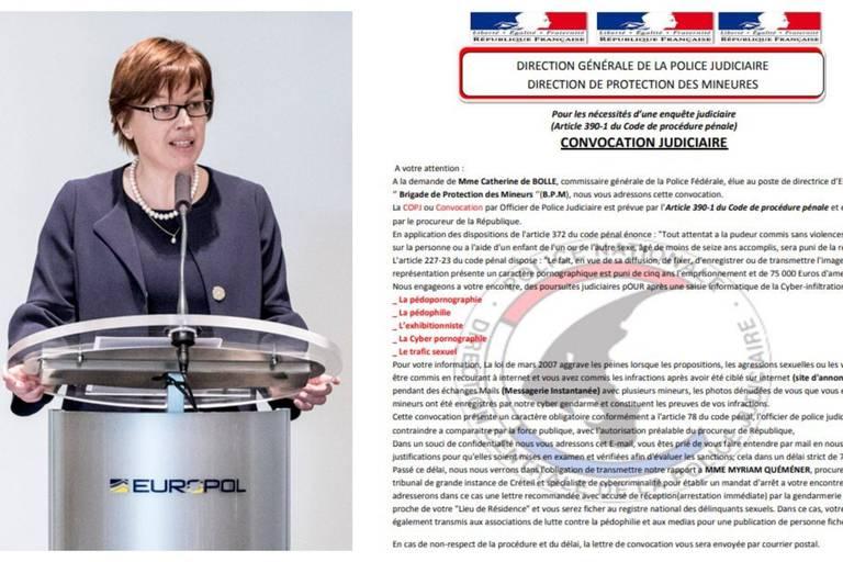 Vous avez reçu un mail de la police signé par la présidente d'Europol Catherine De Bolle? Surtout n'y répondez pas!