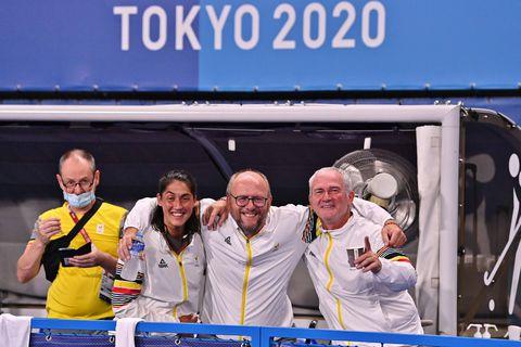 """Le coach des Red Lions, Shane McLeod, fait ses adieux avec l'or olympique: """"J'ai toujours cru que nous pouvions le faire"""""""