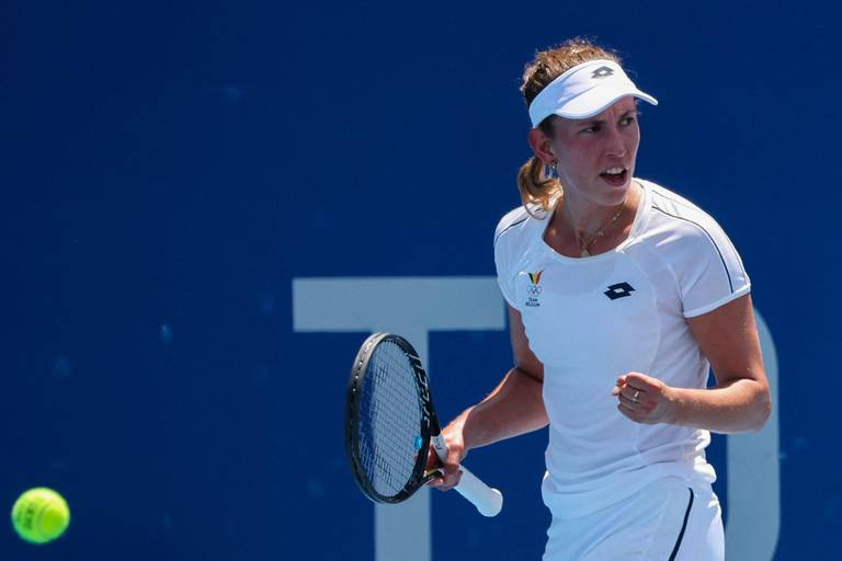 """Elise Mertens sauve 6 balles de match et se qualifie pour le 2e tour de l'US Open: """"C'était mauvais"""""""