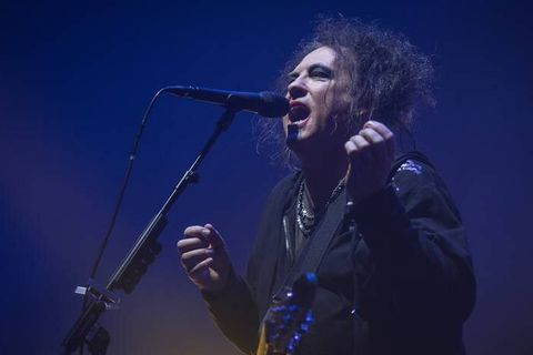 The English rock band The Cure performs a live concert at Oslo Spektrum. Here singer, songwriter and musician Robert Smith is seen live on stage. Norway, 11/10 2016. Reporters / Photoshot