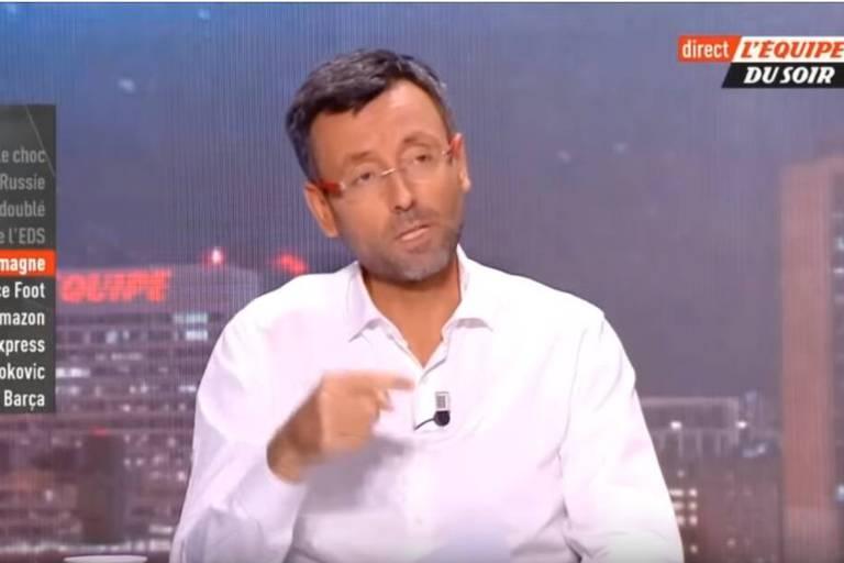 """""""On est tellement fort qu'on va jouer sans gardien"""", un présentateur français confiant avant le match France-Allemagne"""