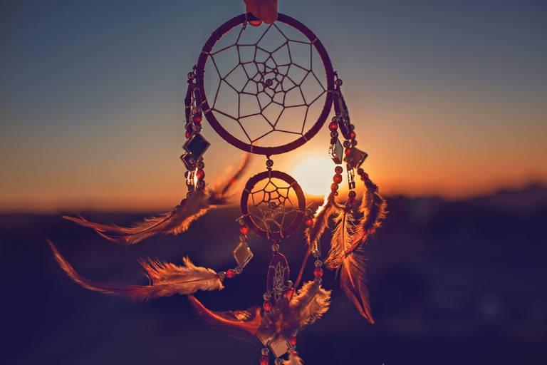 Dreamcatcher,Sunset,,,The,Mountains,,Boho,Chic,,Ethnic,Amulet,symbol